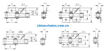 Double Pitch Conveyor Chain Attachments