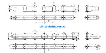 Double Pitch Stainless Steel Conveyor Chains